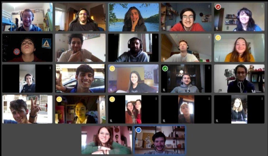 Screenshot riunione di Comunità